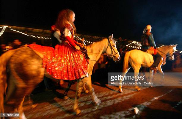 Gipsy riders take part in the first fashion show entirely created by Rom tailors at the Macro Museum of Modern Art of Rome