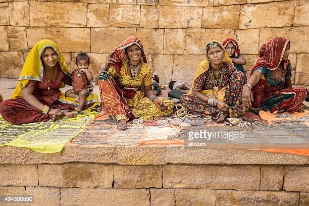 Gipsy women selling jewelry on Jaisalmer Fort walls