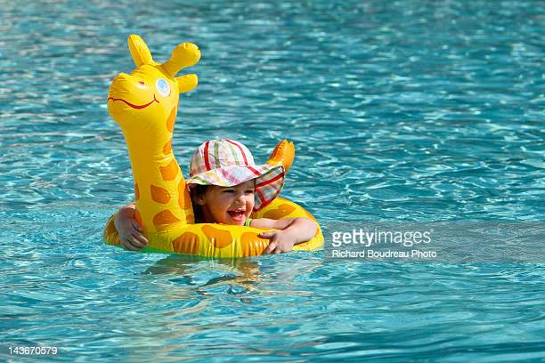 girafe floater - girafe stock pictures, royalty-free photos & images
