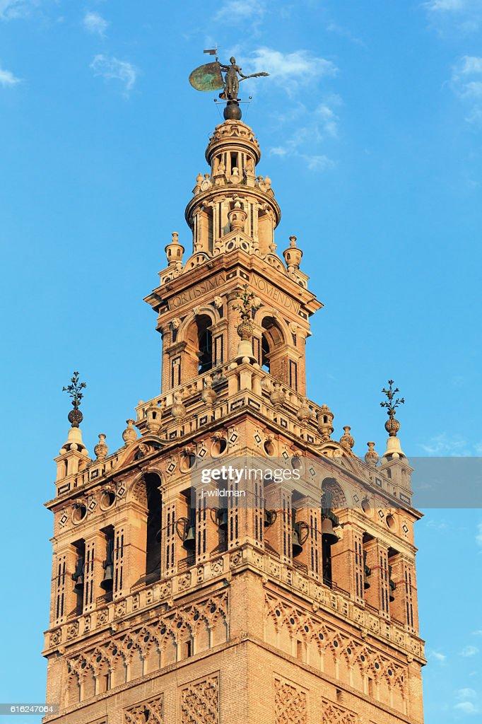 Giralda bell tower, Seville, Spain. : Stock Photo