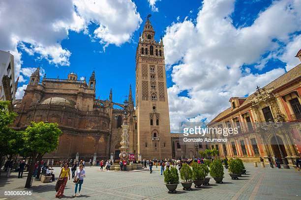 Giralda Tower in Seville in Andalusia