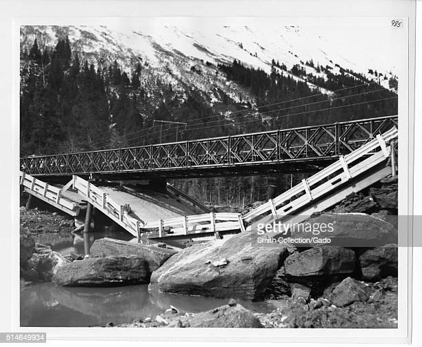 Girdwood Alaska Earthquake Photographs Image credit Department of Defense 1965