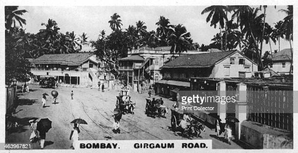 Girgaum Road Bombay India c1925 Street in what is now Mumbai Cigarette card produced by the Westminster Tobacco Co Ltd Indian Empire 1st series