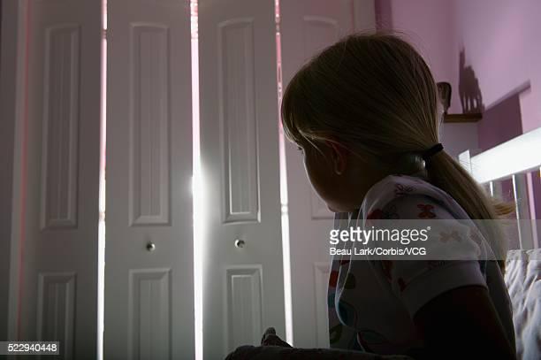 Girl afraid of the dark