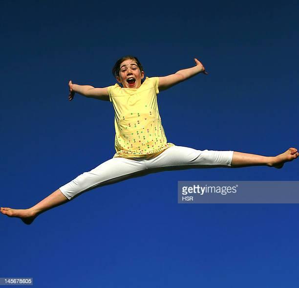 Girl against sky in background