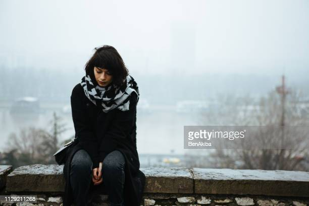 girl, alone. - struggle stock pictures, royalty-free photos & images