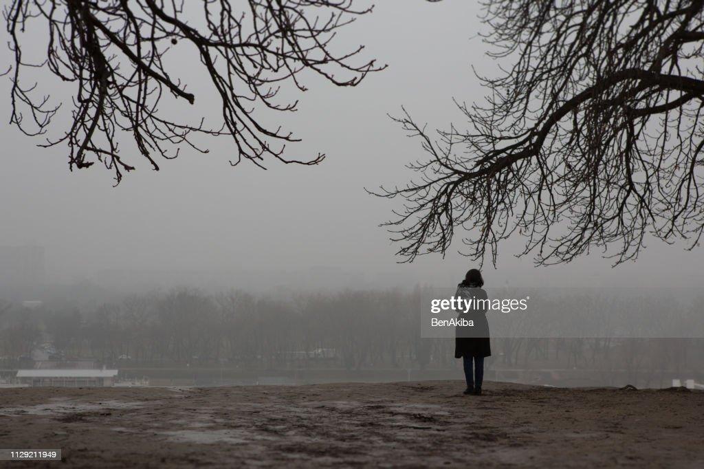 Girl, alone. : Stock Photo