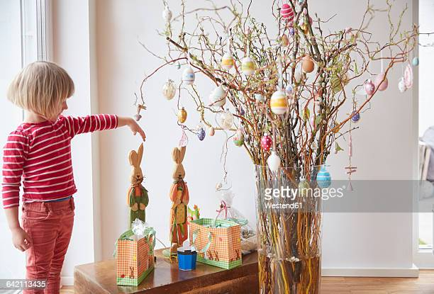 Girl and Easter bouquet