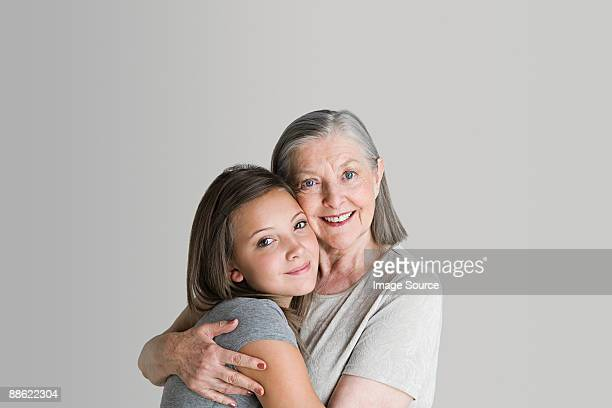 girl and grandmother - granddaughter stock photos and pictures