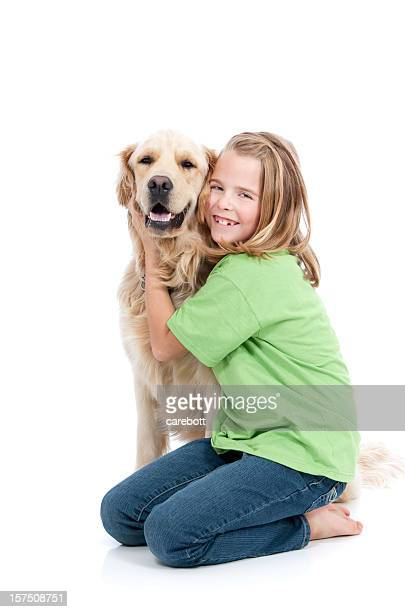 Girl and Her Golden Companion
