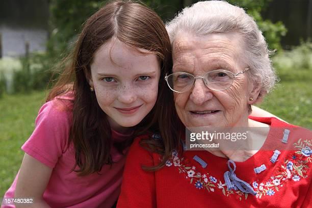 Girl and her Great Grandma