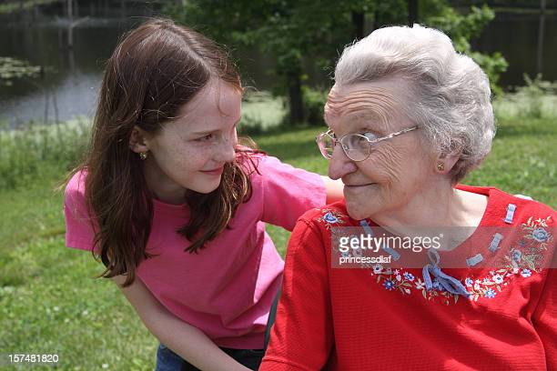 Girl and her Great Grandma
