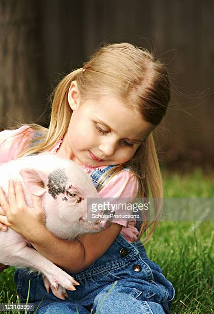 Girl and her Pig