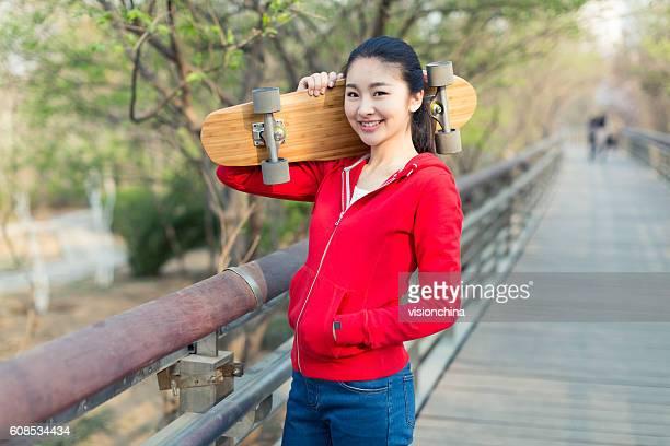 girl and her skateboard