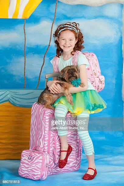girl and hot air balloon
