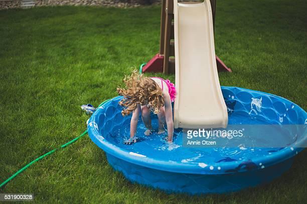 Girl and Kiddie Pool