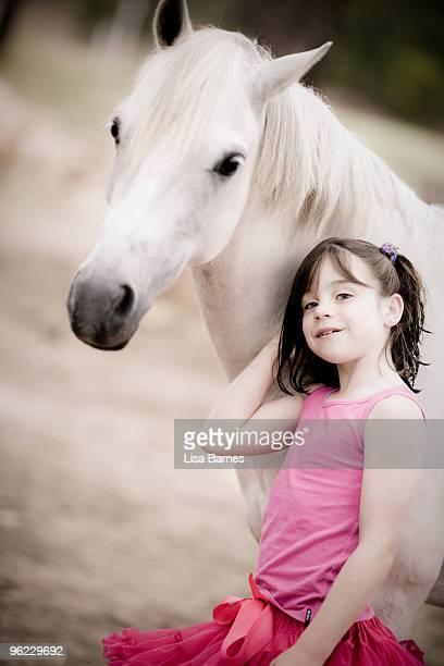 Girl and pony