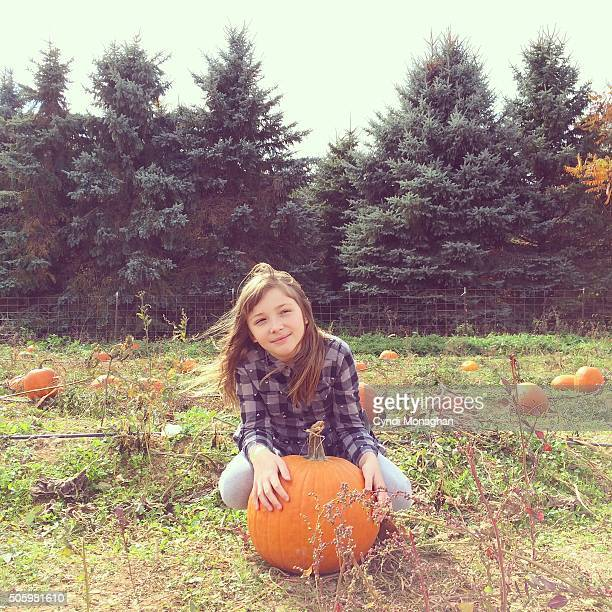Girl and Pumpkin