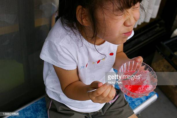 Girl and shaved ice