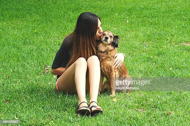 Girl and the dog