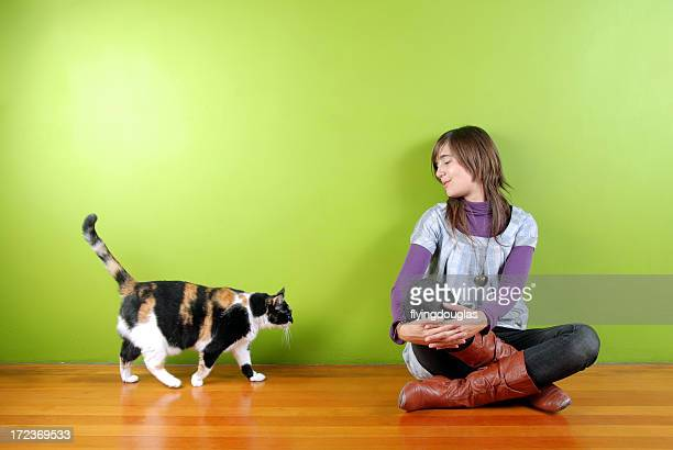 Girl and the Fat Cat