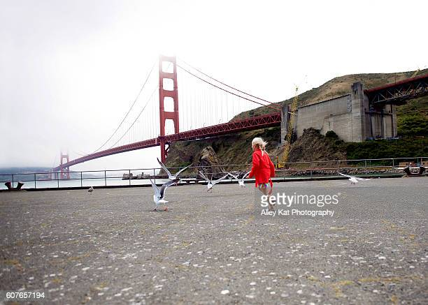Girl and the Golden Gate Bridge