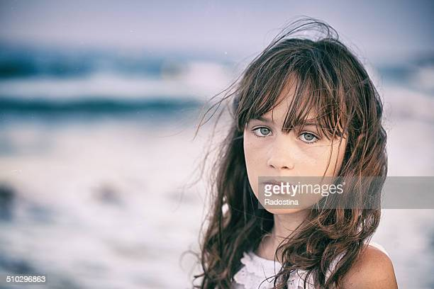 girl and the sea - eastern european descent stock pictures, royalty-free photos & images