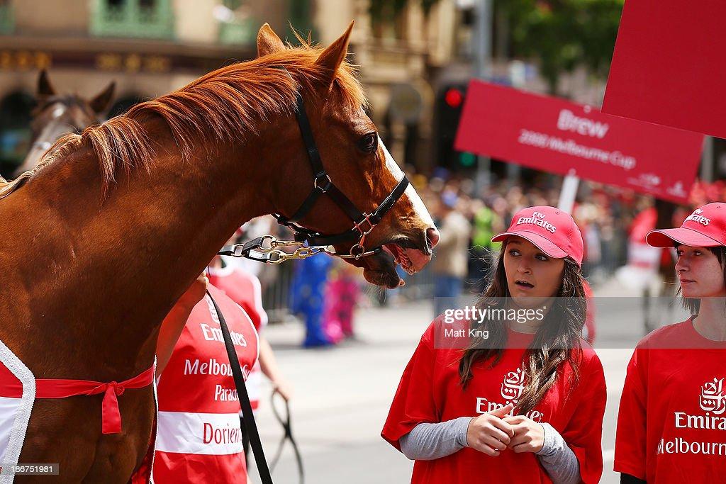 Melbourne Cup Parade : News Photo