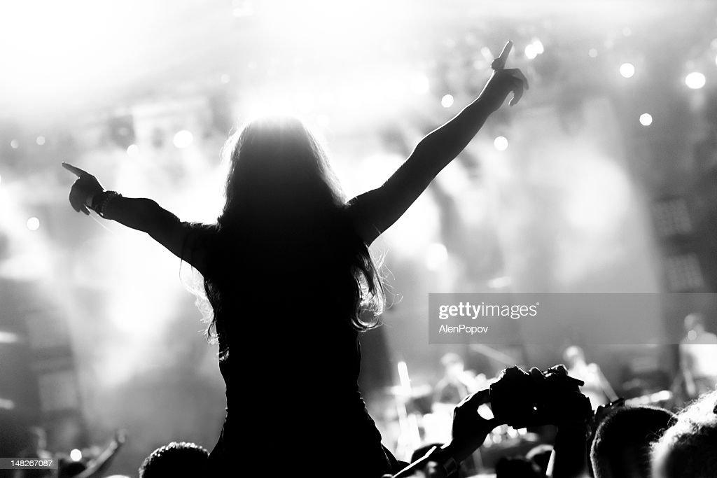Girl at a concert : Stockfoto