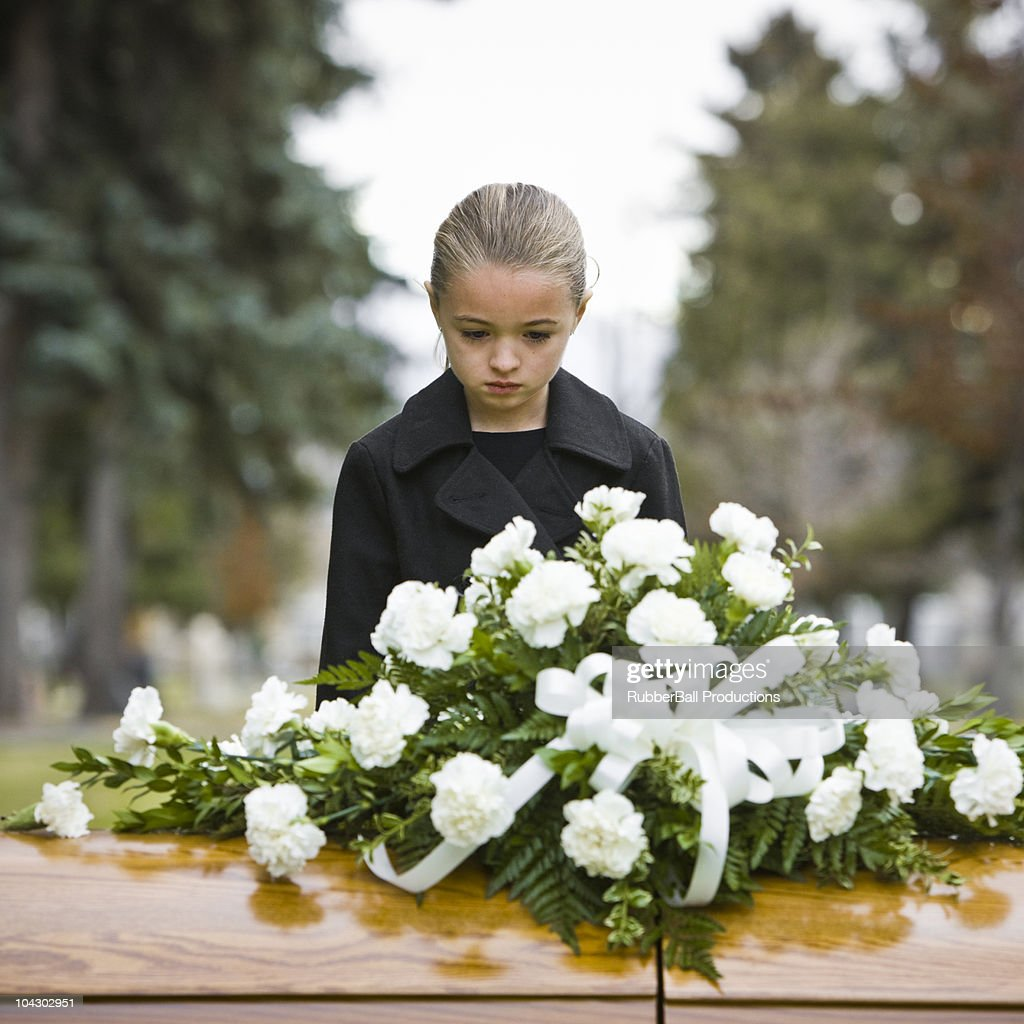 girl at a funeral : Stock Photo