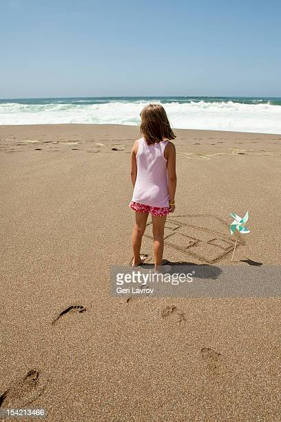 Girl at  beach