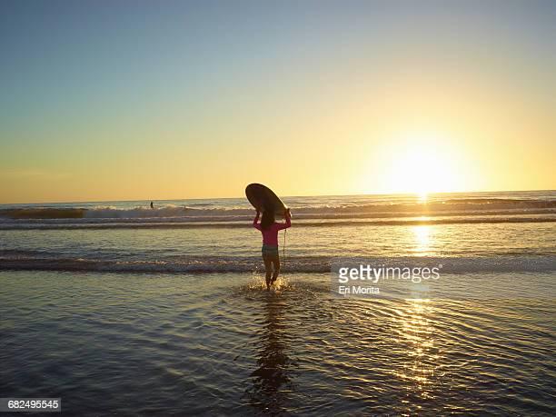 Girl at Beacons Beach in Encinitas, CA