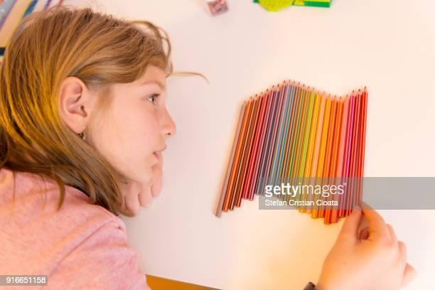 Girl at her desk