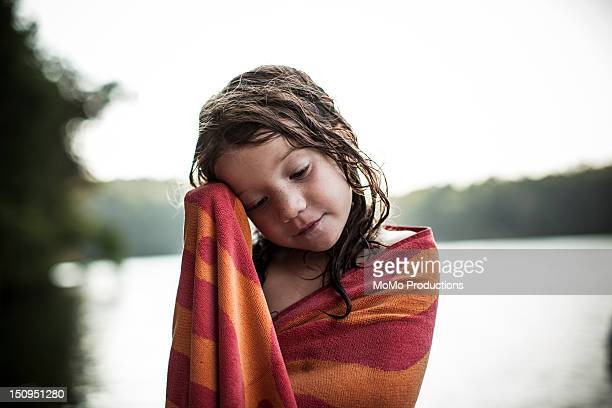 girl (5 yrs) at lake- portrait