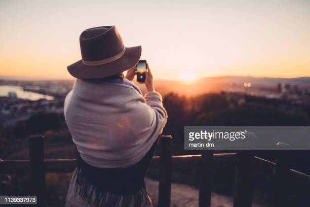 girl at montjuic hill,barcelona - montjuic stock pictures, royalty-free photos & images