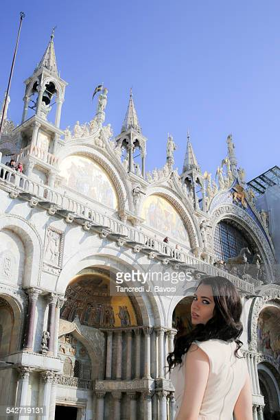 girl at san marco - bavosi stock photos and pictures