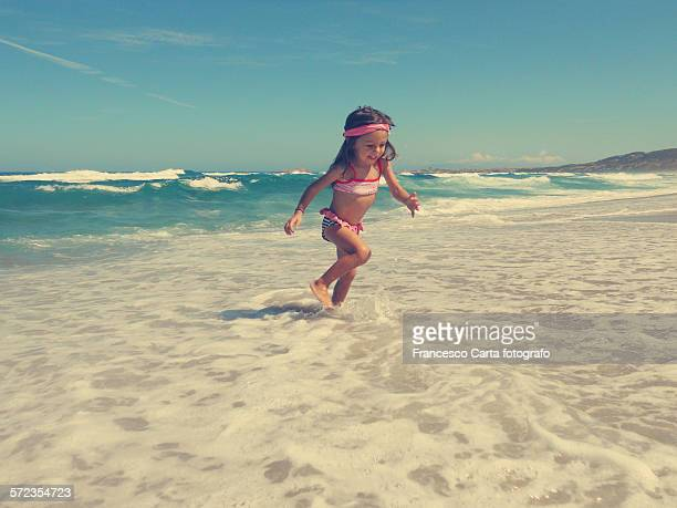 Girl at seashore
