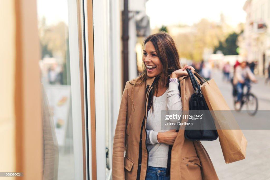 Girl at shopping : Stock Photo