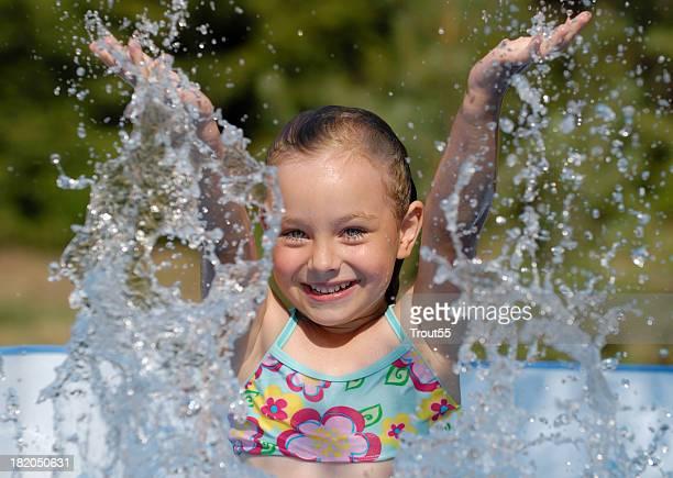 Girl at swimming-pool