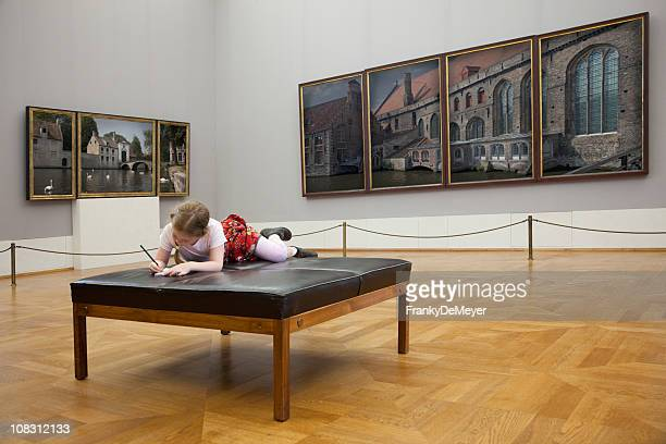girl at the museum - museum stock pictures, royalty-free photos & images