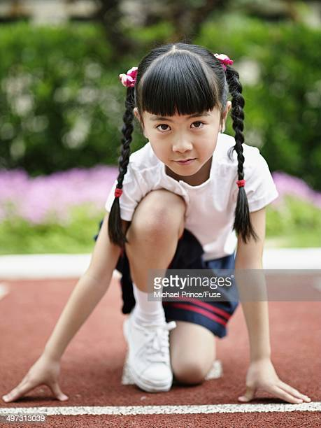 Girl at the Starting Line