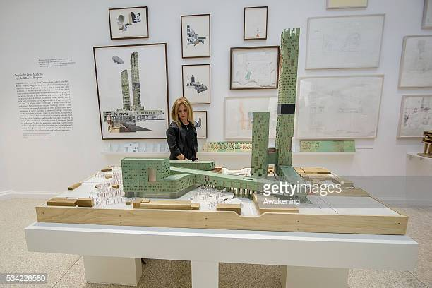 A girl attends at the Usa Pavillion of the 15th Architecture Venice Biennale on May 25 2016 in Venice Italy The 15th International Architecture...