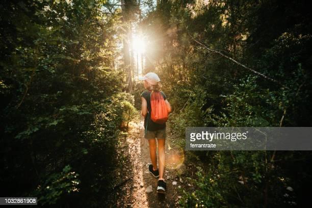 trekking en el majestuoso cañón de chica - aragon fotografías e imágenes de stock