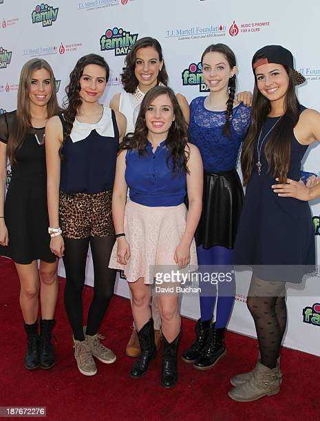 Girl Band Cimorelli attend The TJ Martell Foundation's Family Day LA at CBS Studios on November 10 2013 in Los Angeles California