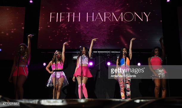Girl band Fifth Harmony perform onstage at LA Pride 2015 y Christopher Street West on June 14, 2015 in West Hollywood, California.