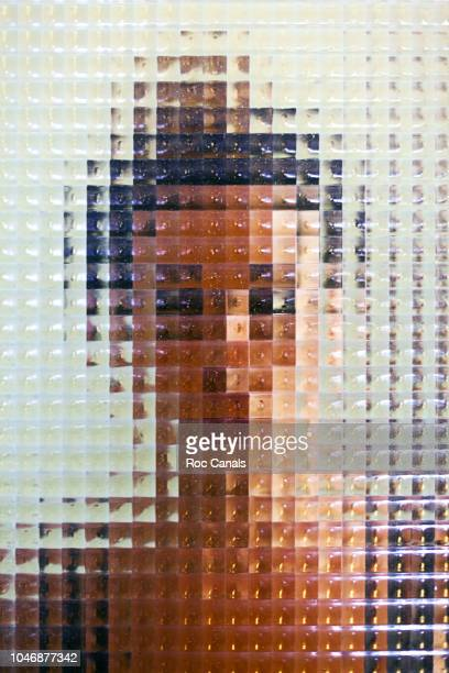girl behind glass - image stock pictures, royalty-free photos & images