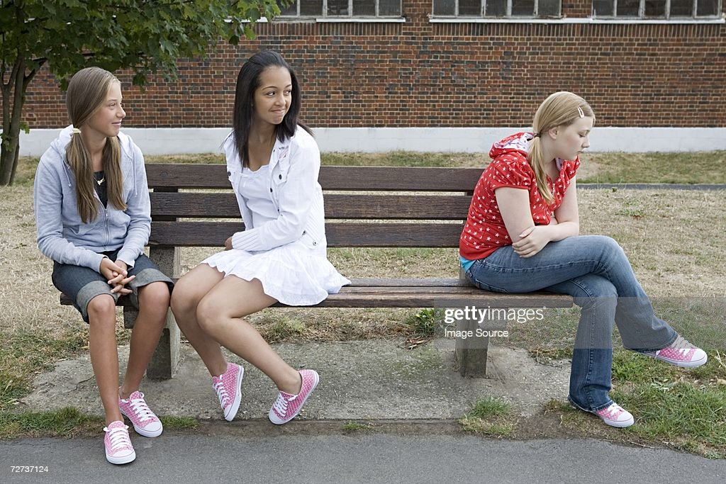 Girl being bullied : Stock Photo