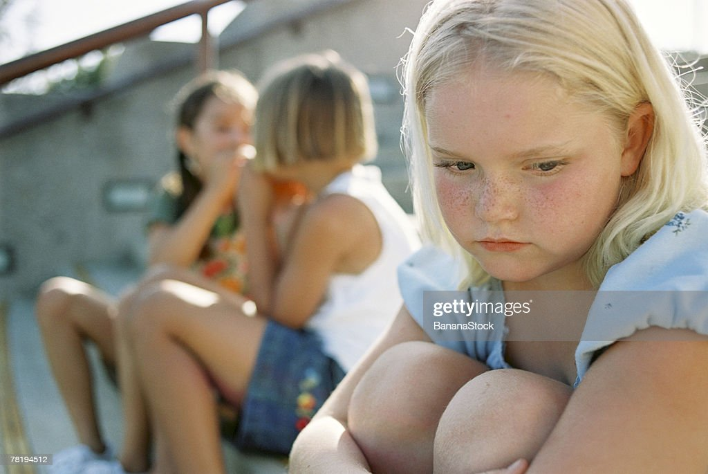 Girl being left out : Stock Photo