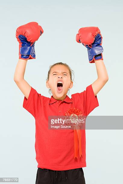 Girl boxing champion