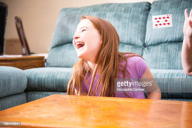 Girl bursting with laughter